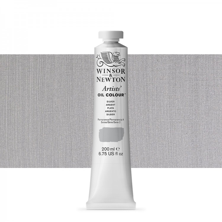 Winsor & Newton : Artists Oil Paint 200ml : Silver