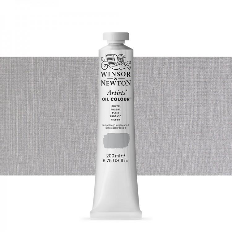 Winsor & Newton : Artists Oil Paint 200ml : Silver