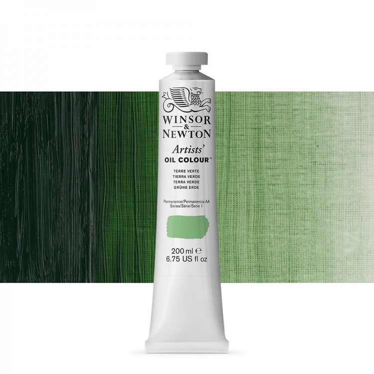 Winsor & Newton : Artists Oil Paint 200ml : Terre Verte