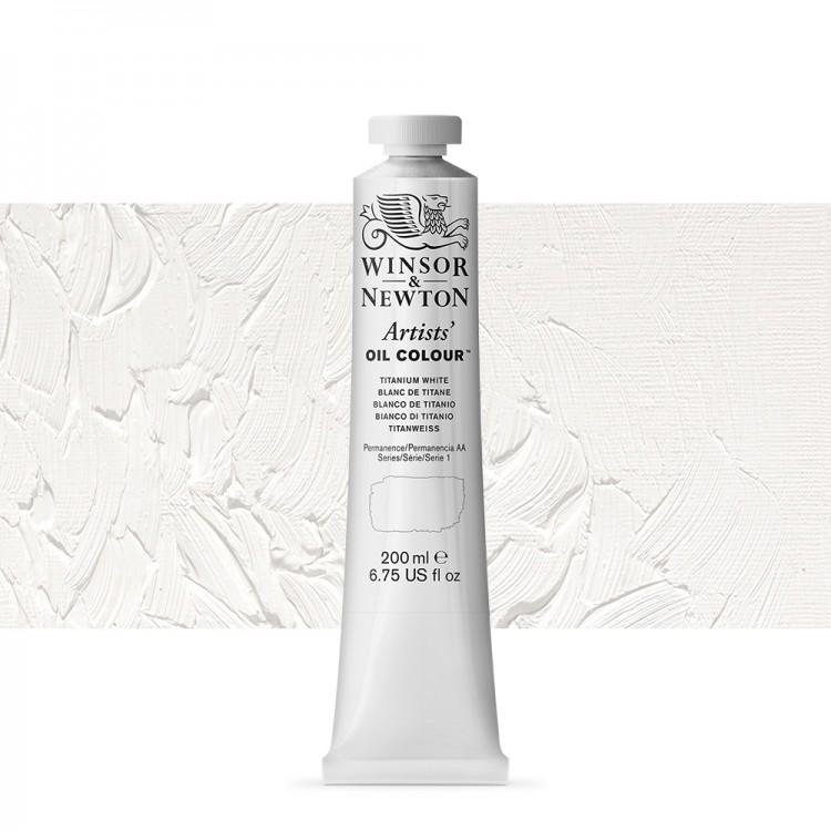 Winsor & Newton : Artists Oil Paint : 200ml : Titanium White