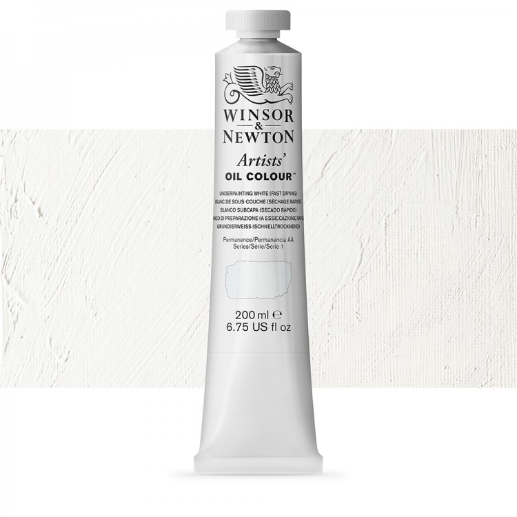 Winsor & Newton : Artists Oil Paint 200ml : Underpainting White
