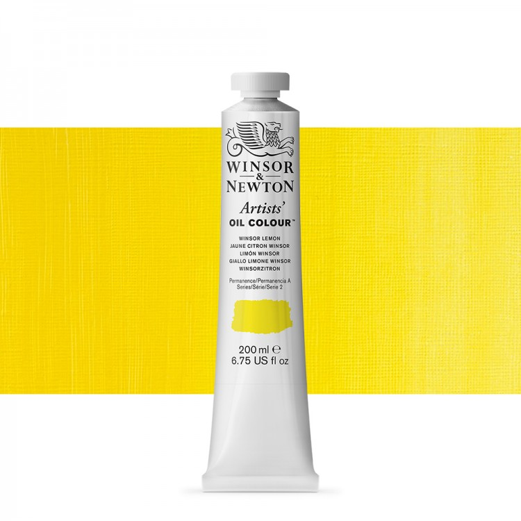 Winsor & Newton : Artists Oil Paint 200ml : Winsor Lemon
