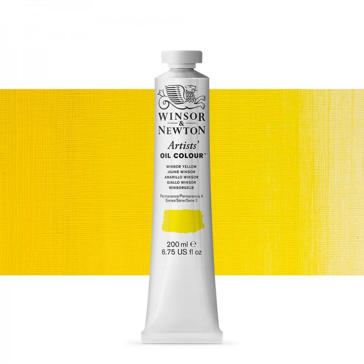 Winsor & Newton : Artists Oil Paint 200ml : Winsor Yellow