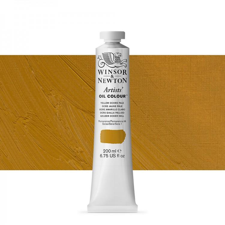 Winsor & Newton : Artists Oil Paint 200ml : Yellow Ochre Pale