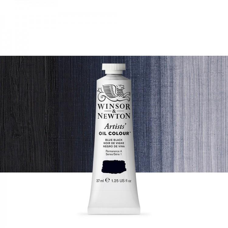 Winsor & Newton : Artists Oil Paint : 37ml Tube : Blue Black