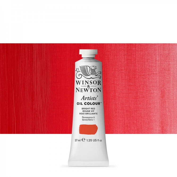 Winsor & Newton : Artists Oil Paint : 37ml : Bright Red