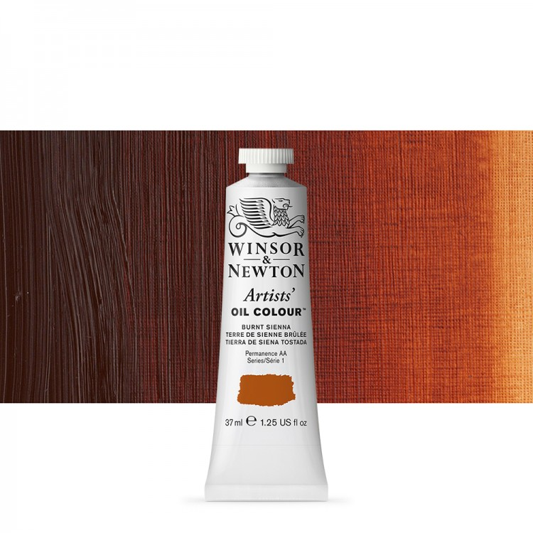 Winsor & Newton : Artists Oil Paint : 37ml Tube : Burnt Sienna