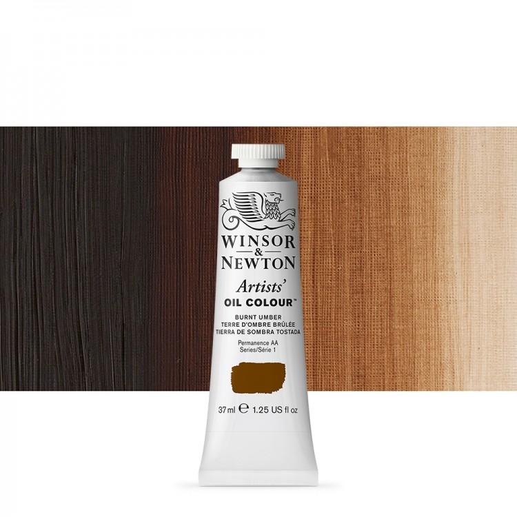 Winsor & Newton : Artists Oil Paint : 37ml Tube : Burnt Umber
