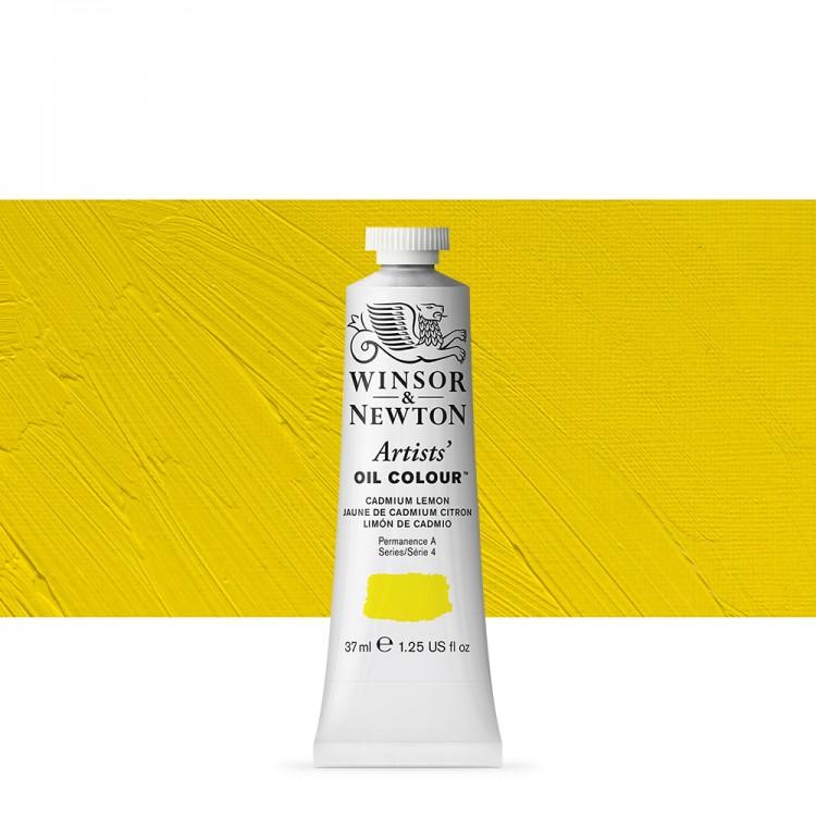 Winsor & Newton : Artists Oil Paint : 37ml : Cadmium Lemon