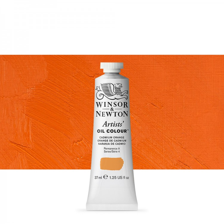 Winsor & Newton : Artists Oil Paint : 37ml : Cadmium Orange