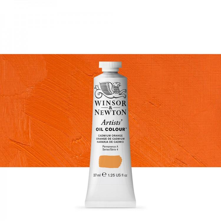 Winsor & Newton : Artists Oil Paint : 37ml : Cadmium Orange