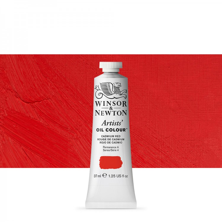 Winsor & Newton : Artists Oil Paint : 37ml Tube : Cadmium Red