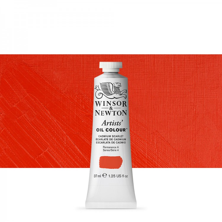 Winsor & Newton : Artists Oil Paint : 37ml : Cadmium Scarlet