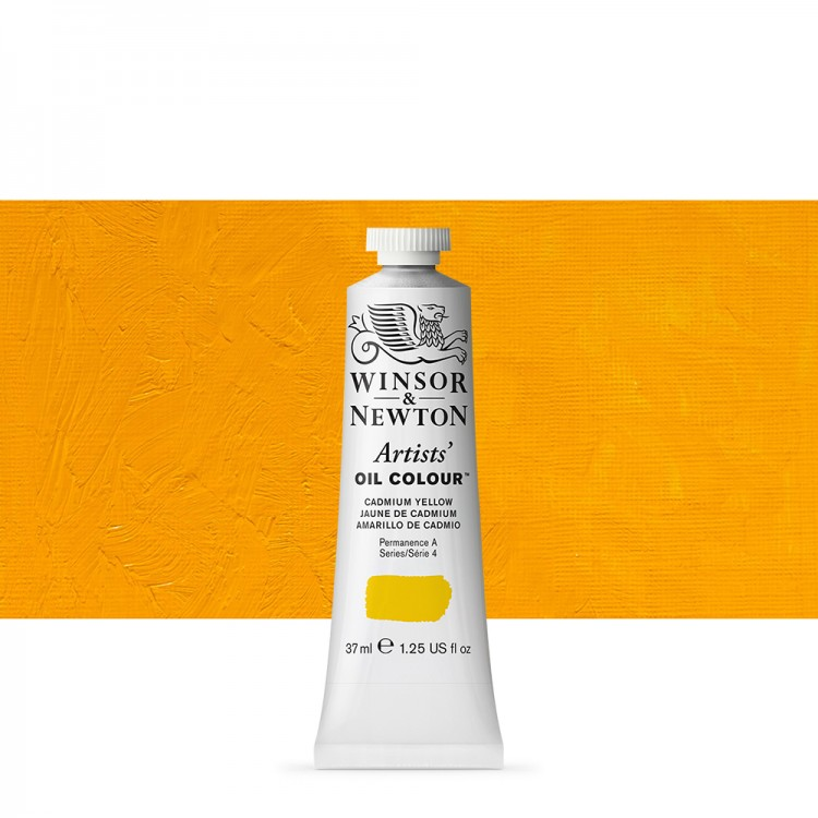 Winsor & Newton : Artists Oil Paint : 37ml : Cadmium Yellow