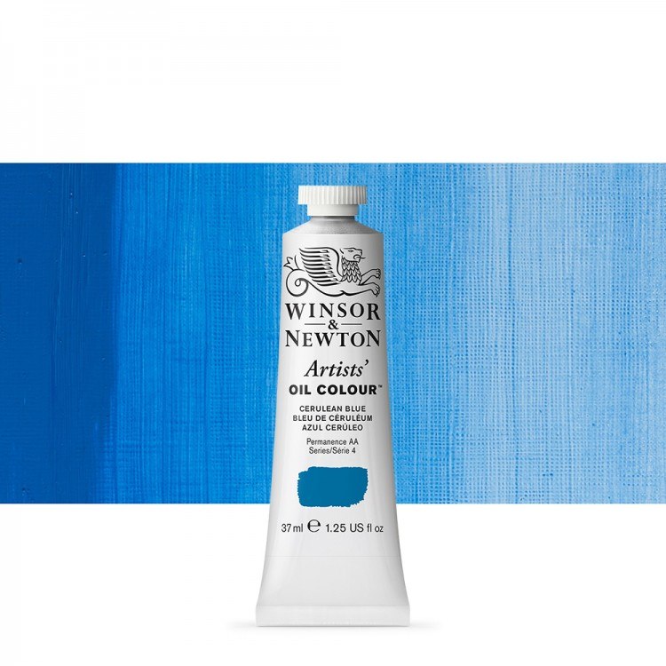 Winsor & Newton : Artists Oil Paint : 37ml Tube : Cerulean Blue