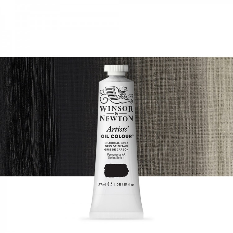 Winsor & Newton : Artists Oil Paint : 37ml : Charcoal Grey