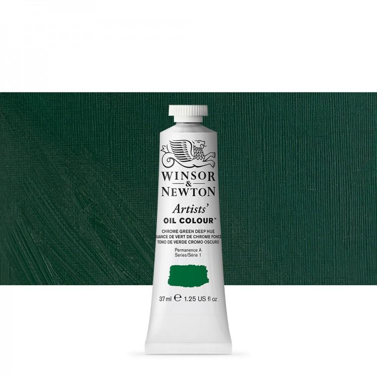 Winsor & Newton : Artists Oil Paint : 37ml : Chrome Green Deep Hue