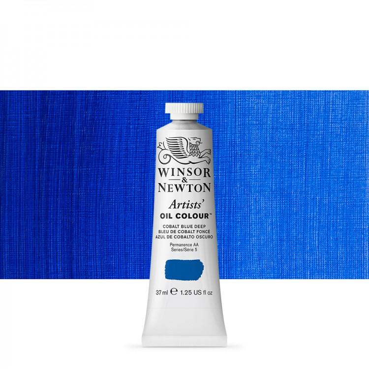 Winsor & Newton : Artists Oil Paint : 37ml Tube : Cobalt Blue Deep