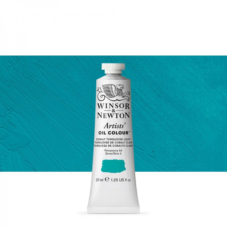 Winsor & Newton : Artists Oil Paint : 37ml Tube : Cobalt Turquoise Light