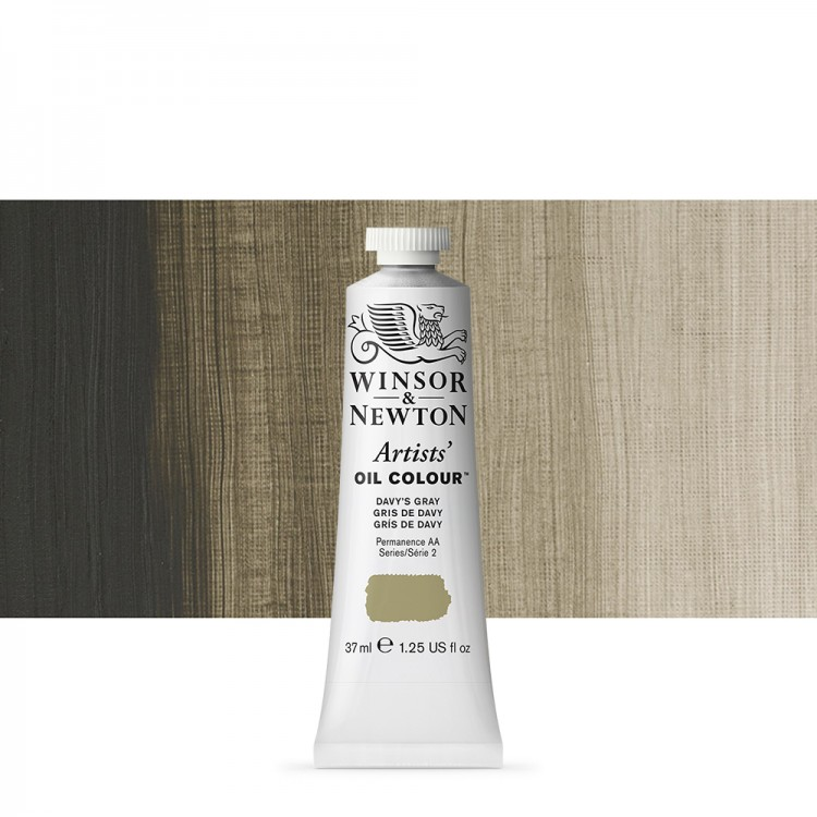 Winsor & Newton : Artists Oil Paint : 37ml Tube : Davys Gray
