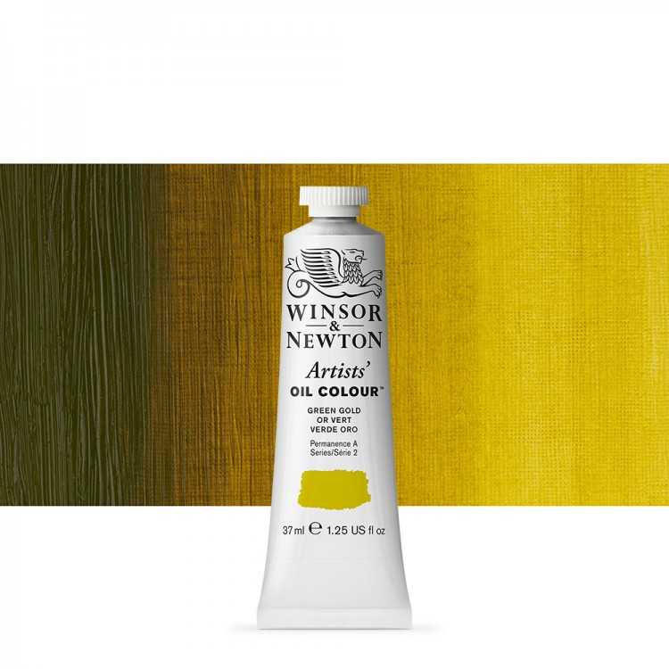 Winsor & Newton : Artists Oil Paint : 37ml : Green Gold