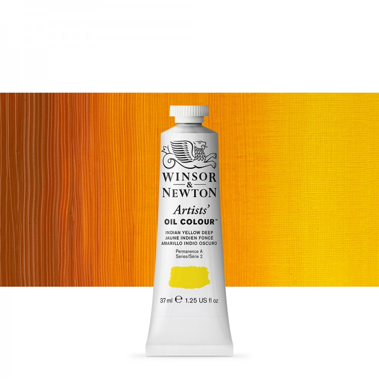 Winsor & Newton : Artists Oil Paint : 37ml Tube : Indian Yellow Deep