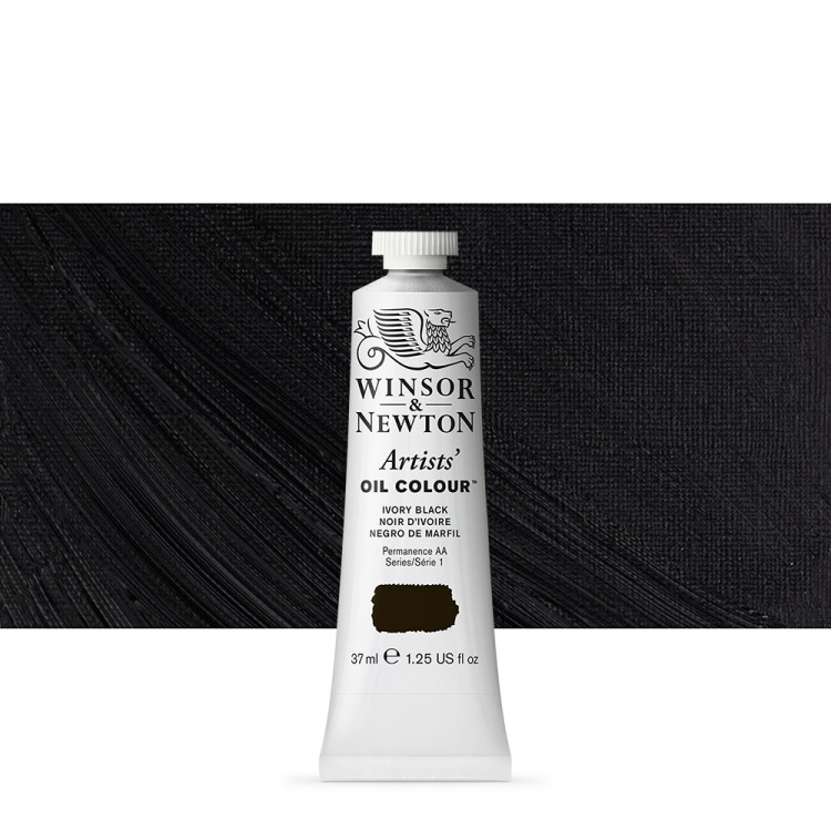 Winsor & Newton : Artists' : Oil Paint : 37ml : Ivory Black