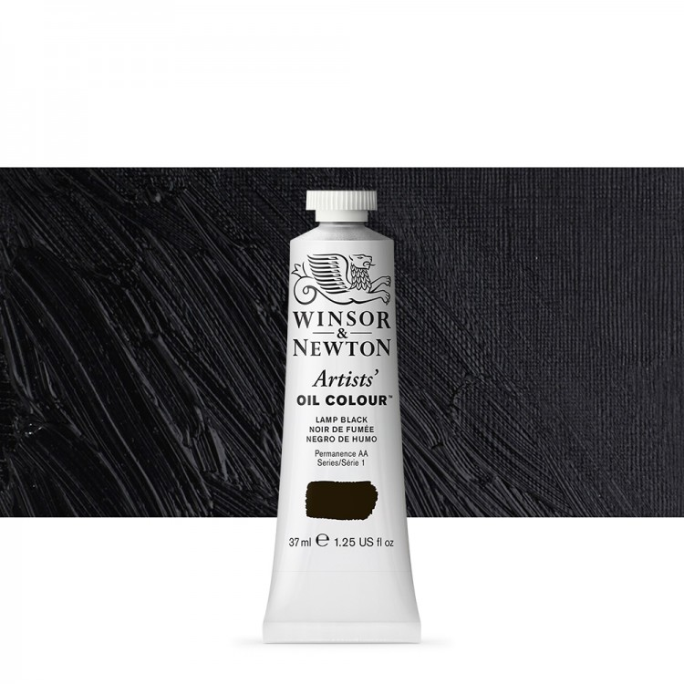 Winsor & Newton : Artists Oil Paint : 37ml : Lamp Black