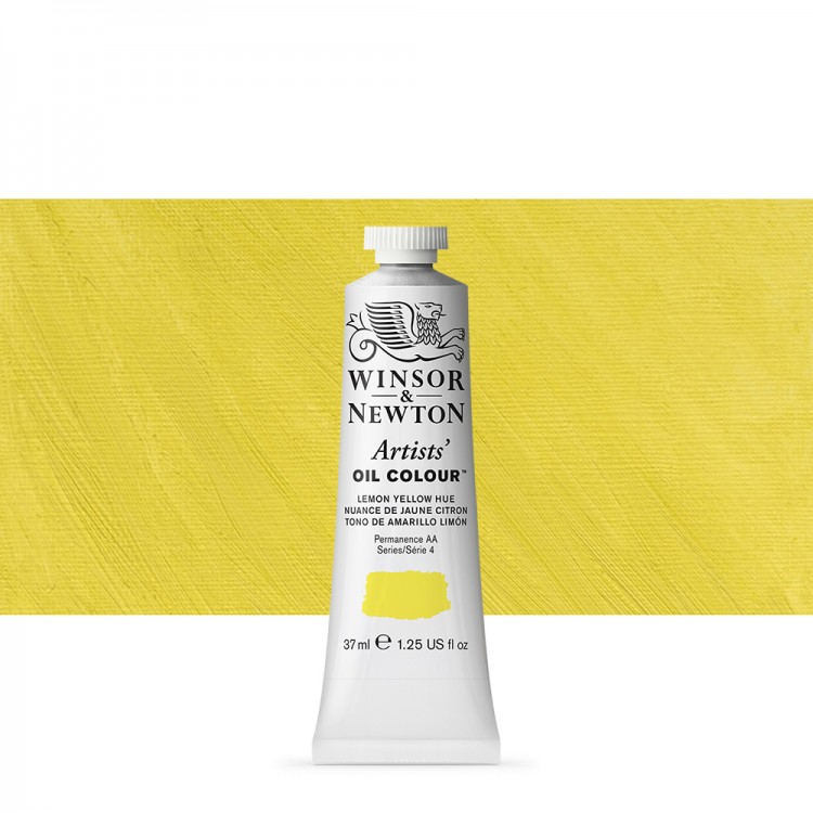 Winsor & Newton : Artists Oil Paint : 37ml Tube : Lemon Yellow Hue
