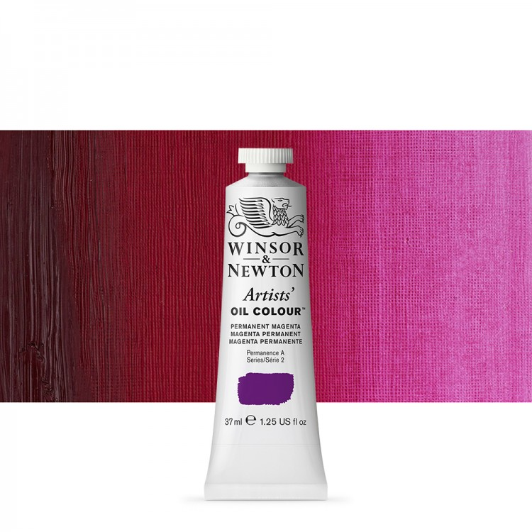 Winsor & Newton : Artists Oil Paint : 37ml Tube : Permanent Magenta