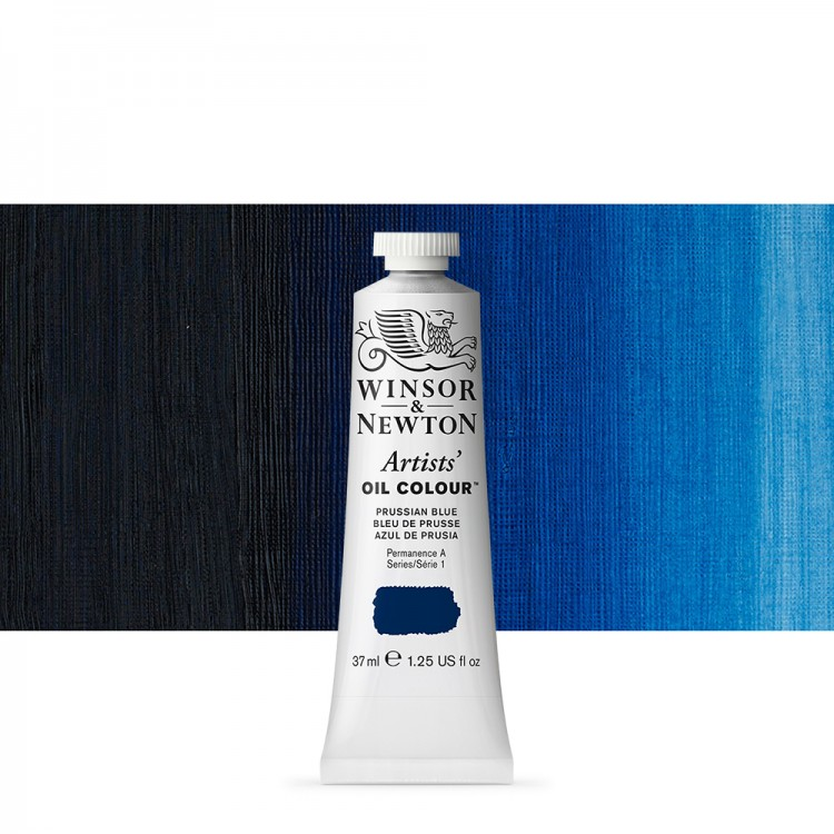 Winsor & Newton : Artists Oil Paint : 37ml Tube : Prussian Blue