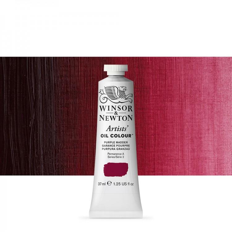 Winsor & Newton : Artists Oil Paint : 37ml : Purple Madder