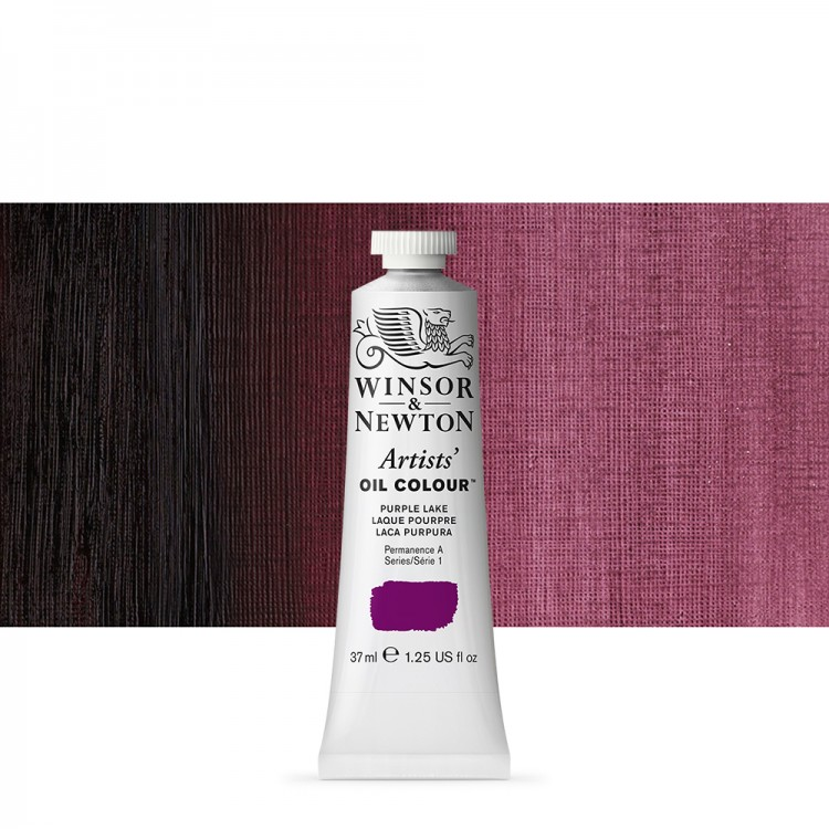 Winsor & Newton : Artists Oil Paint : 37ml Tube : Purple Lake