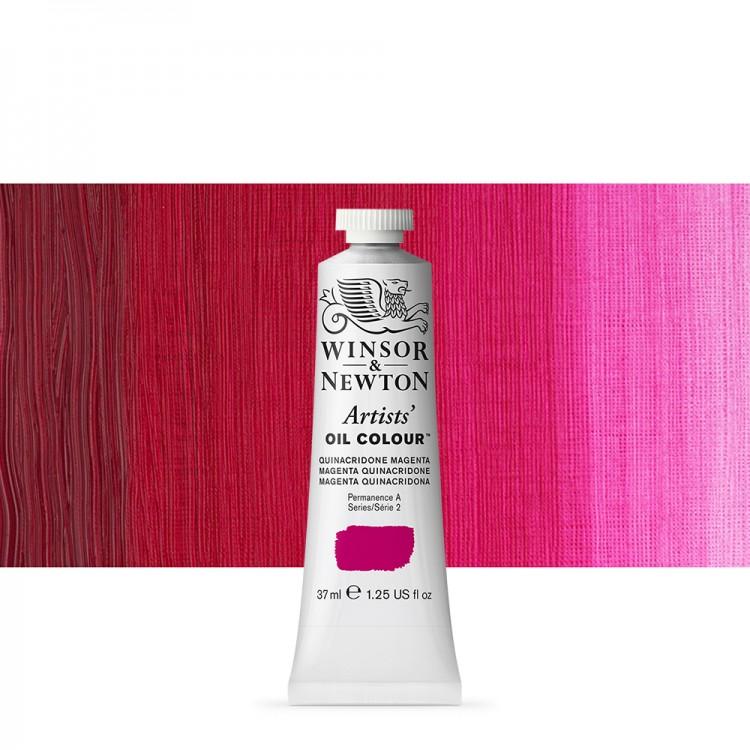 Winsor & Newton : Artists Oil Paint : 37ml : Quinacridone Magenta