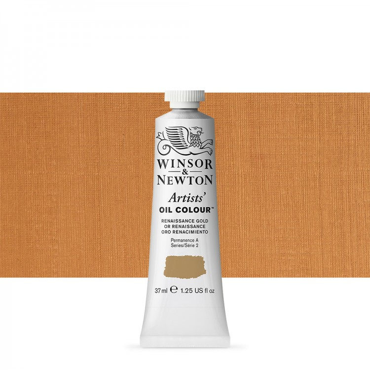 Winsor & Newton : Artists Oil Paint : 37ml Tube : Renaissance Gold