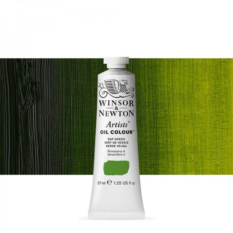 Winsor & Newton : Artists Oil Paint : 37ml Tube : Sap Green