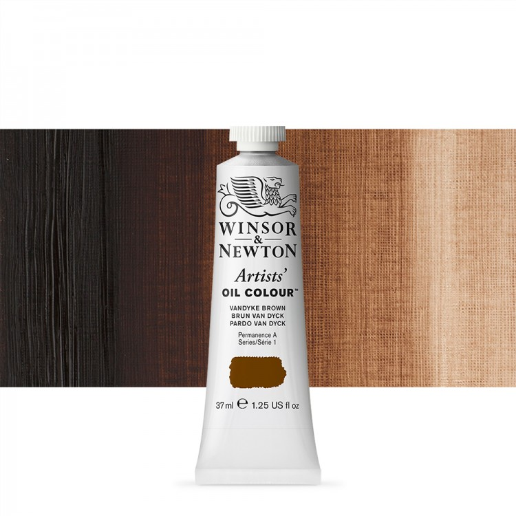 Winsor & Newton : Artists Oil Paint : 37ml Tube : Vandyke Brown