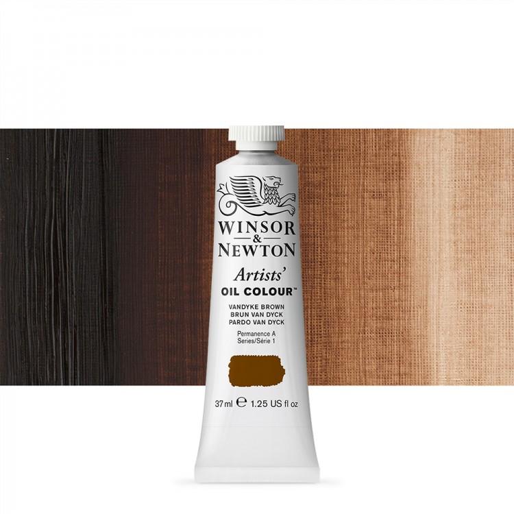 Winsor & Newton : Artists Oil Paint : 37ml Tube : Vandyke Brown