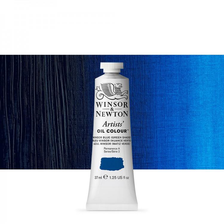 Winsor & Newton : Artists Oil Paint : 37ml Tube : Winsor Blue (Green)