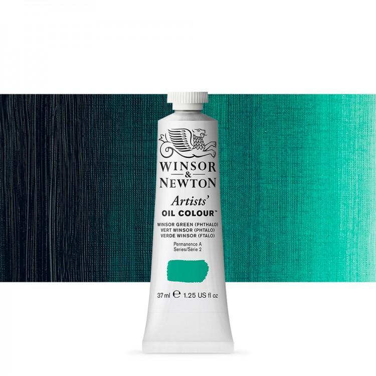 Winsor & Newton : Artists Oil Paint : 37ml Tube : Winsor Green