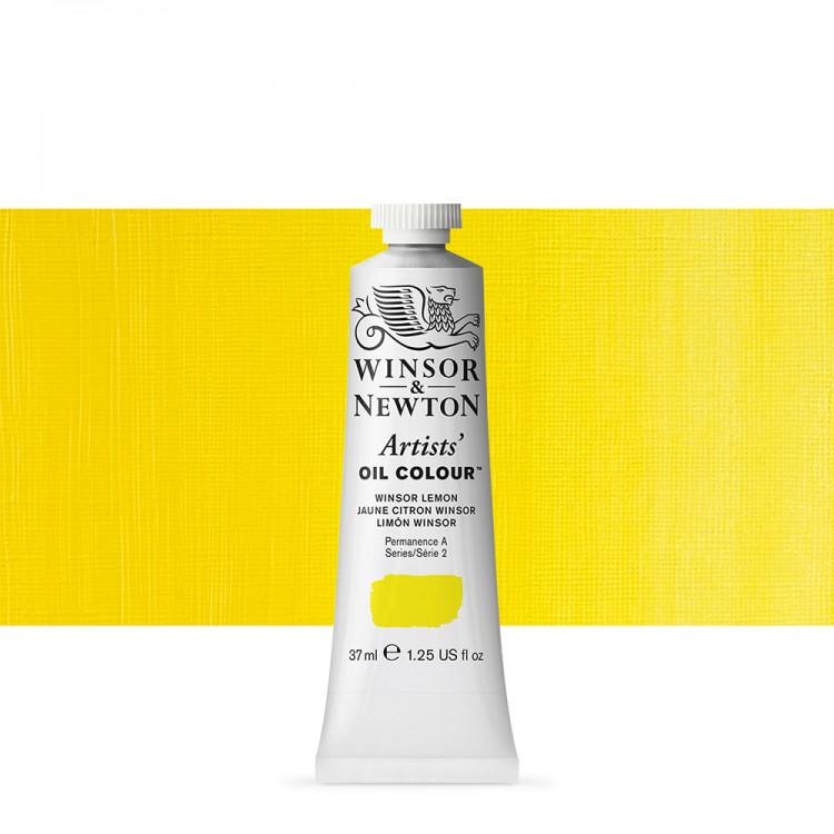Winsor & Newton : Artists Oil Paint : 37ml Tube : Winsor Lemon