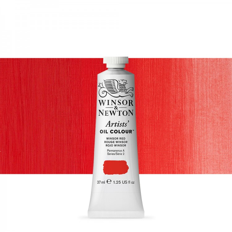 Winsor & Newton : Artists Oil Paint : 37ml : Winsor Red