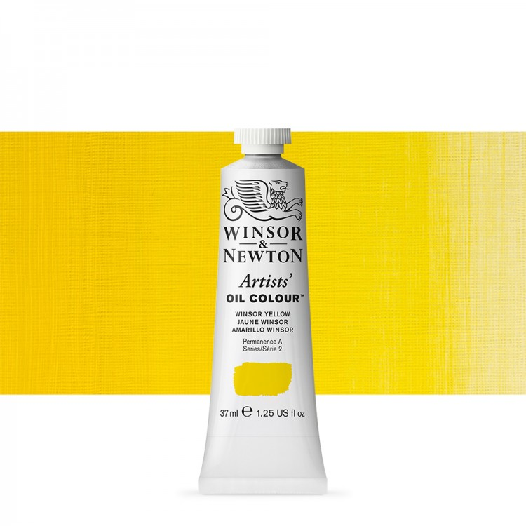 Winsor & Newton : Artists Oil Paint : 37ml : Winsor Yellow