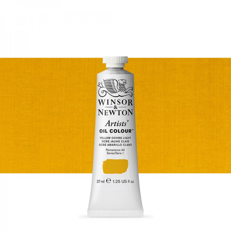 Winsor & Newton : Artists Oil Paint : 37ml Tube : Yellow Ochre Light