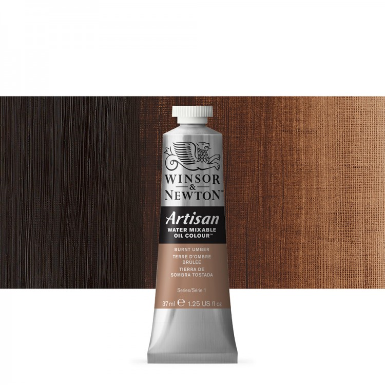 Winsor & Newton : Artisan Water Mixable Oil Paint : 37ml : Burnt Umber
