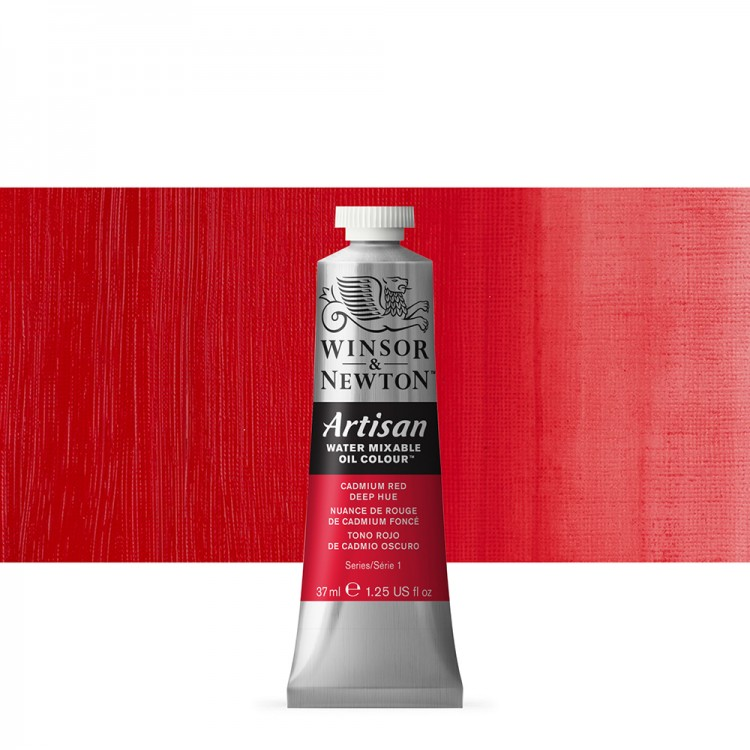 Winsor & Newton : Artisan Water Mixable Oil Paint : 37ml : Cadmium Red Deep Hue