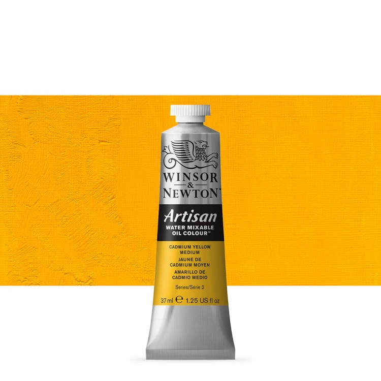 Winsor & Newton : Artisan Water Mixable Oil : 37ml : Cadmium Yellow Medium