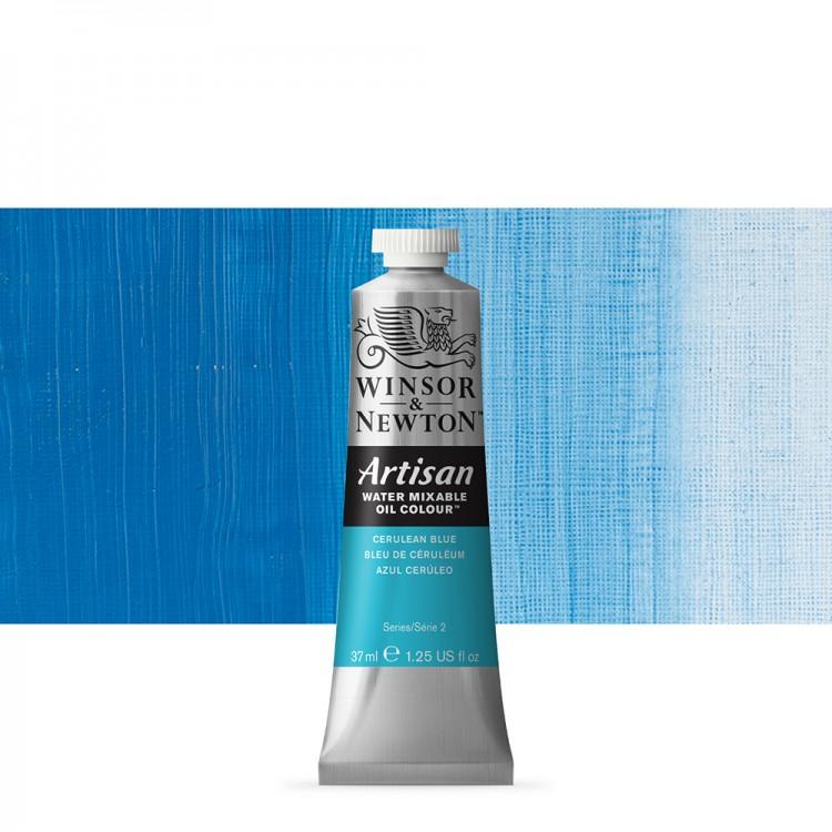 Winsor & Newton : Artisan Water Mixable Oil Paint : 37ml : Cerulean Blue