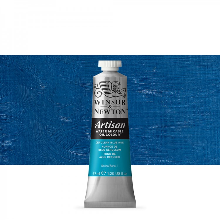 Winsor & Newton : Artisan Water Mixable Oil Paint : 37ml : Cerulean Blue Hue