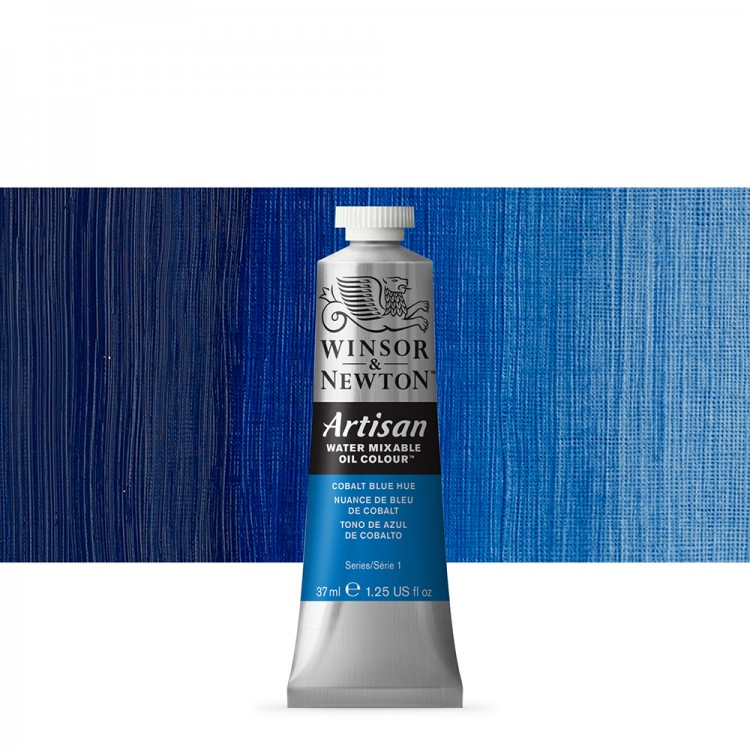 Winsor & Newton : Artisan Water Mixable Oil Paint : 37ml : Cobalt Blue Hue